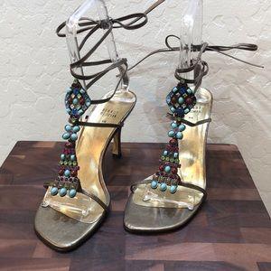 Stuart Weitzman Bronze Sandals Size 9